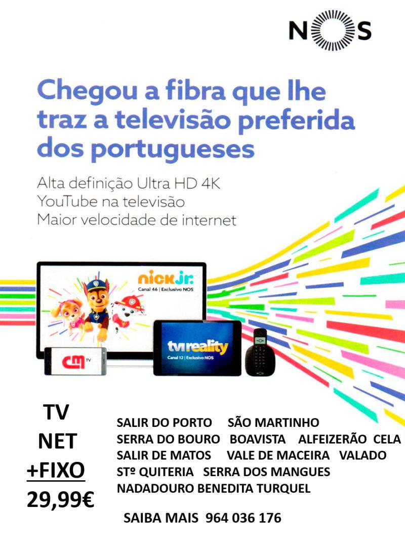 NOS | CHEGOU A FIBRA QUE LHE TRAZ A TV PREFERIDA DOS PORTUGUESES